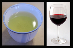 green tea and red wine against Alzheimer's disease