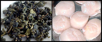 oolong tea coating for scallops
